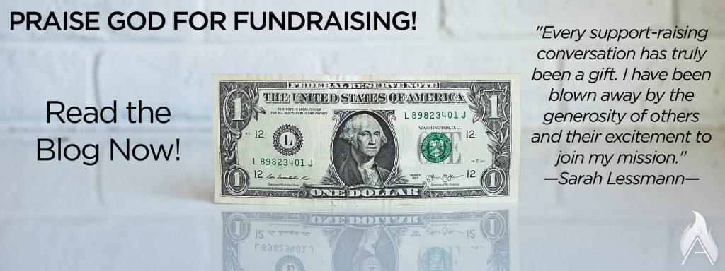 praise God for fundraising, missionary, sarah lessmann